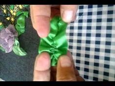 Flor: Rosita Armada en tela sintética. Pintada a mano con pintura para tela a punto tinta - YouTube