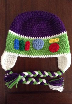 Buzz Lightyear inspired crochet hat face or by MelissasCrochetart