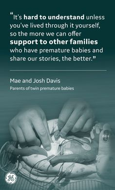 Mae and Josh Davis are one of many families who has experienced prematurity and are sharing their words of wisdom and inspiration for others currently going through it. World Prematurity Day, Healthcare News, Pediatric Nursing, Premature Baby, In God We Trust, Nicu, How I Feel, What Is Love, Words Of Encouragement