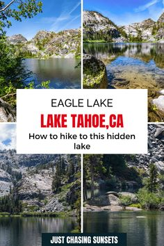 Eagle Lake is a hidden gem near Emerald Bay Lake Tahoe. Here's how to hike to it. Eagle Lake California | Eagle Lake Tahoe | Emerald Bay Lake Tahoe #emeraldbay #laketahoehikes #desolationwildernesshikes California Travel Guide, California Destinations, Beautiful Places To Visit, Cool Places To Visit, Half Moon Bay California, Emerald Bay Lake Tahoe, Travel For A Year, Eagle Lake, Alpine Lake