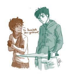 ~Nico to Percy   ~The Titan's Curse - Looks too happy to be Nico... looks more Leo-esque.