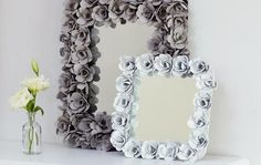 Diy Projects: DIY Egg Carton Flowers Mirror