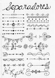 Bullet Journal Doodles: 20 Amazing Doodle Ideas For Beginners & Beyond! - Meraadi These bullet journal doodles and doodle tips and ideas are exactly what you need to learn how to doodle. Perfect for beginners and more advanced doodlers! Bullet Journal Page, Bullet Journal Headers, Bullet Journal Banner, Bullet Journal Aesthetic, Bullet Journal Notebook, Bullet Journal School, Bullet Journal Inspiration, Bullet Journal Dividers, Bullet Journal Doodles Ideas