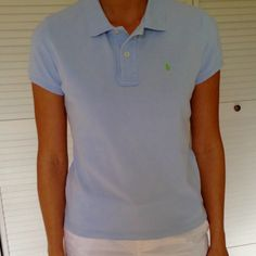 Ralph Lauren the skinny polo small beautiful blue Ralph Lauren the skinny polo is a slimmer fit compared to the classic polo. Beautiful blue color size small. Zero flaws, no signs of wear. Ralph Lauren Tops Tees - Short Sleeve
