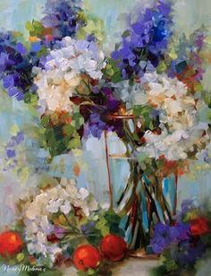 Celebrate Today Hydrangea Garden by Floral Artist Nancy Medina, painting by artist Nancy Medina