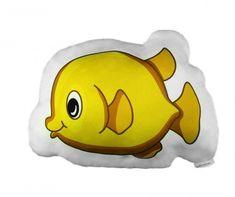 Perna decorativa Fish Yellow 33x42 cm