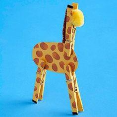 Clothespin giraffe!