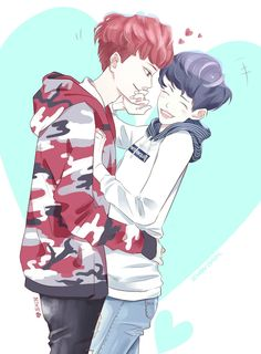 Literally one of the cutest Baekyeol fanarts I've ever seen, omfg.