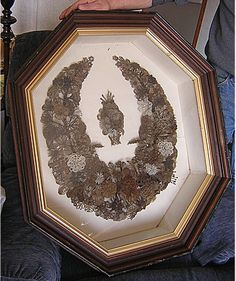 Victorian Mourning Customs - Antique Victorian Hair Wreath