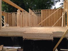 July 5,2014 2nd day of framing..1st story Living Room