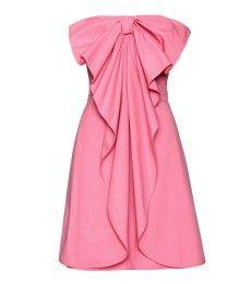 Strapless cotton bow dress