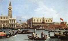 Canaletto- Return of the Bucintoro to the Molo on Ascension Day