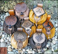 Norse Belt Pouches by Half-Goat.deviantart.com on @deviantART