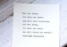 Napoleon Bonaparte quote typed on a 1931 Royal vintage typewriter
