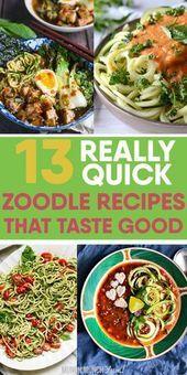 Zucchini-Nudeln: 13 Zudel-Rezepte (alle unter 30 MIN!)