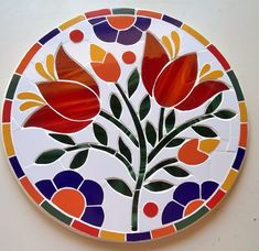 Mosaic Tray, Mosaic Tile Art, Mosaic Pots, Mosaic Garden, Mosaic Crafts, Mosaic Projects, Stained Glass Projects, Stained Glass Patterns, Mosaic Patterns