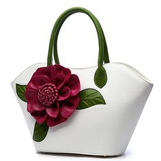 AnKoee Floral Collection Womens PU Leather Top Handle Han...