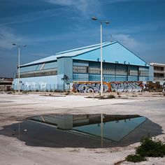 Athens Ellinikon International Airport (closed since - Olympic Airways hangar Abandoned Houses, Abandoned Places, Left Alone, International Airport, Destruction, Athens, Olympics, Greece, Airports