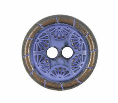 Daisy Circle Metal Hole Buttons in Purple Copper Color - 20mm - 3/4 inch