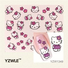 0.10$  Watch now - http://ali4j7.shopchina.info/go.php?t=32341999676 - YZWLE New Fashion Lovely Cute Cat DIY Water Transfer Nail Art Stickers Decals Wraps Salon Beauty Manicure Styling Tools  #buymethat