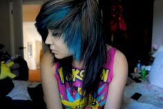 ; I always wanted to do this to my hair when I was in high school. Like for real.