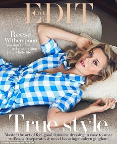 Go gingham in a shirt dress like Reese Witherspoon. Click 'Visit' to buy now. #DailyMail