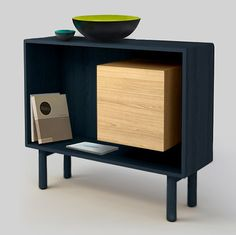 This would be so easy to build. The inside cube is actually a small cabinet with shelves.