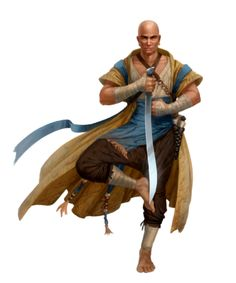 Male Human Monk of the Seven Forms - Pathfinder PFRPG DND D&D 3.5 5th ed d20 fantasy