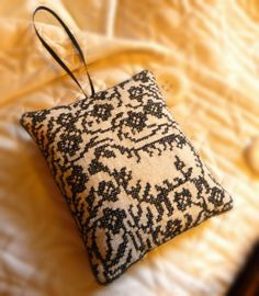 Lavender Scented Sachet with Blackwork Sheep by CherieWheeler, $14.00