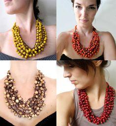 Statement Necklace Cluster Acai necklace par JustineJustine sur Etsy