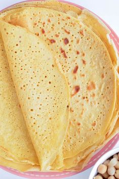 Chickpea crepes are delicious thin vegan and gluten free protein wraps made with only 3 ingredients: garbanzo bean flour, water and salt. An easy, healthy blender recipe perfect for a savory crepes for breakfast. Delicious with mushrooms, spinach or grilled vegetables.