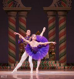 Pacific Northwest Ballet's Leta Biasucci & Benjamin Griffiths as Sugar Plum and Cavalier in Balanchine's 'The Nutcracker'