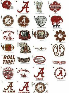 Alabama Embroidery Collection by BatmansEmbroidery on Etsy Crimson Tide Football, Alabama Football, Alabama Crimson Tide, Alabama Baby, Football Names, Football Crafts, American Football, Embroidery Applique, Machine Embroidery Designs