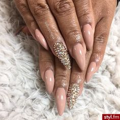 Love the nail color & design… Not a fan of the nail shape...