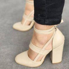 eebac194dea Savannah Strappy Leather Block Heel Women s Shoe 5 Colors