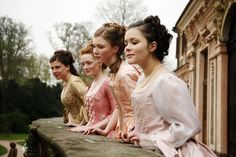 young maidens scurried to the balcony, giggling and blushing. They watched as the carriage pulled towards the castle. The count was here. Story Inspiration, Writing Inspiration, Character Inspiration, Medieval, Barbie Movies, Princess Aesthetic, Pride And Prejudice, Period Dramas, Fairy Tales