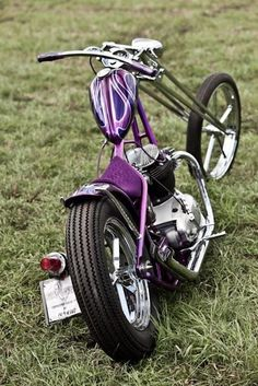 Sweet old school chopper.                                                       …