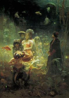 Ilya Yefimovich Repin (1844 - 1930) Sadko in the Underwater Kingdom