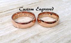 Personalized Rose Gold 6mm Stainless Steel by TwistedEngraving
