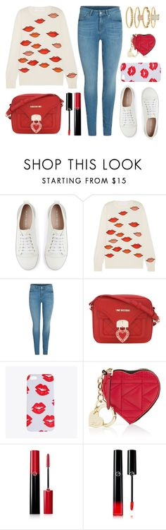 """""""Kiss Me"""" by wolfiexo ❤ liked on Polyvore featuring Mint Velvet, Victoria, Victoria Beckham, Love Moschino, Karl Lagerfeld, Giorgio Armani and Accessorize"""