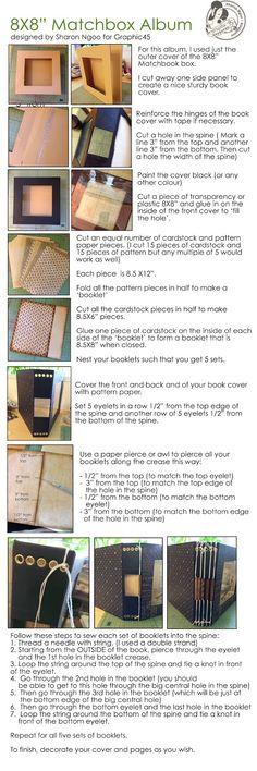Tuto du Matchbox album avec papiers de Graphic45