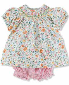 Ralph Lauren Baby Girls' 2-Piece Top & Bloomers - Kids Sets & Outfits - Macy's