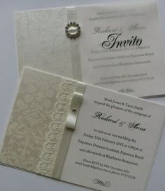 Gold Classical Wedding Invitations romantic