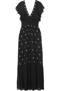 Temperley London | Starling embellished chiffon gown | NET-A-PORTER.COM