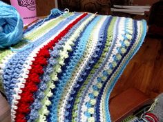 Scotty's Place: The Sampler Blanket FREE Pattern for the 1st 31 rows - Love the look of mixed stitches