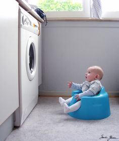the babysitter (oh my goodness LOL)  This actually explains a lot about why my daughter is obsessed with laundry! HA