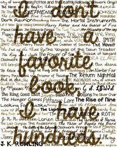 one favorite book....no way...