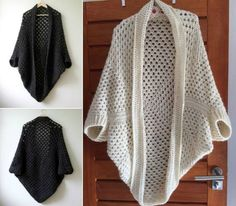 You will love to make this stunning and highly practical Granny Crochet Cocoon Shrug and it's a fabulous FREE Pattern.