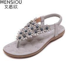 e9b20f26f55033 summer women Bohemia beach sandals casual women shoes flat shoes sandalias  mujer ladies shoes new flip