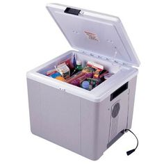 Koolatron 29 Quart 12V Cooler-plugs into your car charger, no more stops to get snacks when you travel